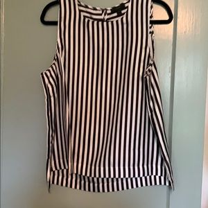J. Crew Silk Striped Sleeveless top